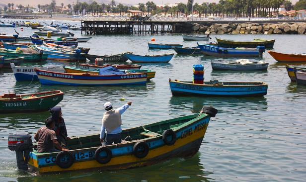 Fishing vessels in Ancon, Peru